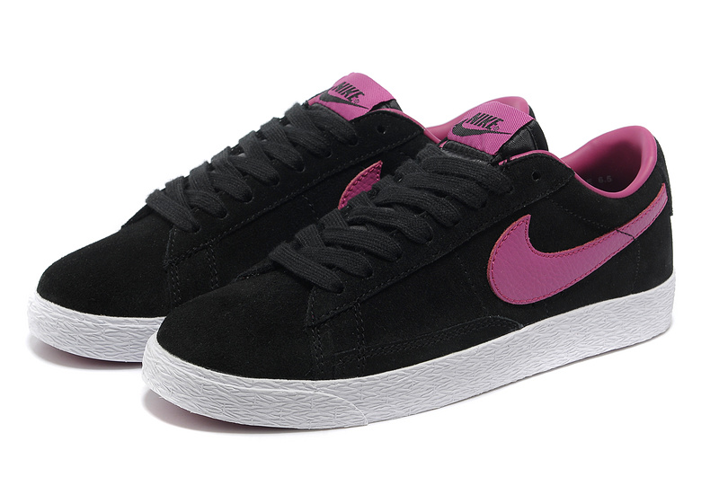 Women Nike Blazer Low Black Purple Shoes