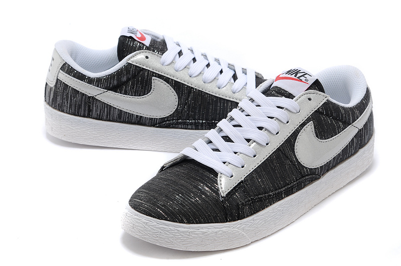 Women Nike Blazer Low Black Silver Shoes
