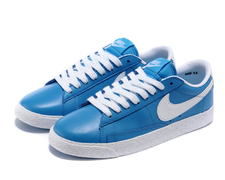 Women Nike Blazer Low Blue Shoes