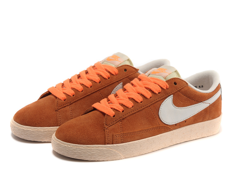 Women Nike Blazer Low Brown Orange Shoes