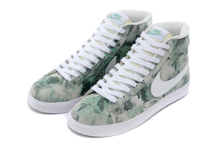 Women Nike Blazer Mid Camo Green Shoes