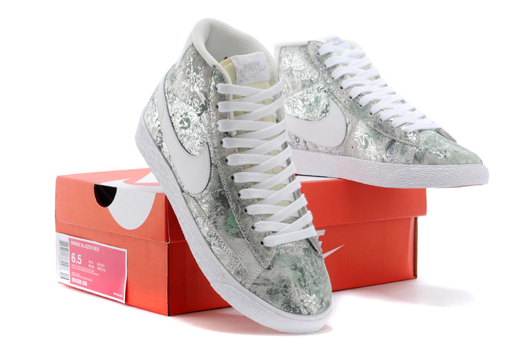 Women Nike Blazer Mid Green Camouflage Shoes
