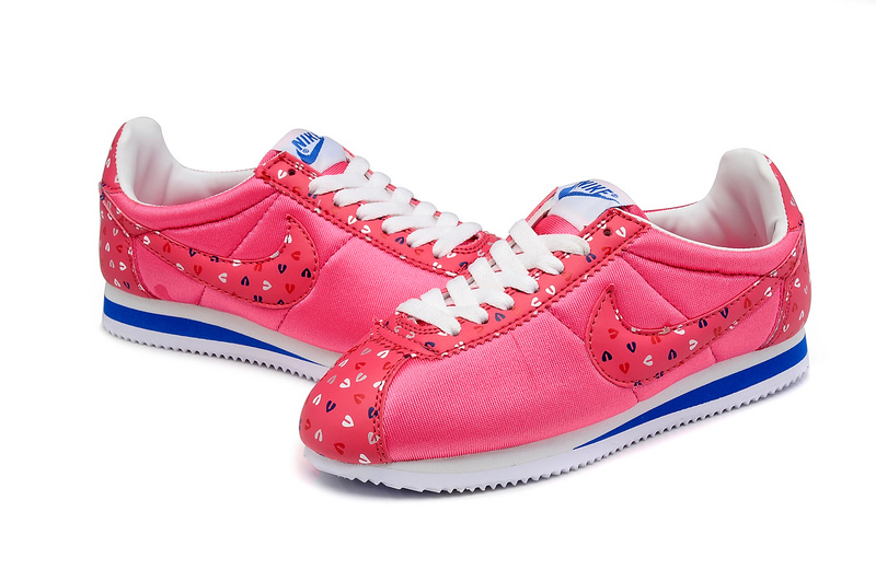 Women Nike Classic Cortez Nylon Red White Blue Shoes