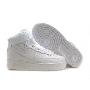 Women Nike Dunk High All White Shoes