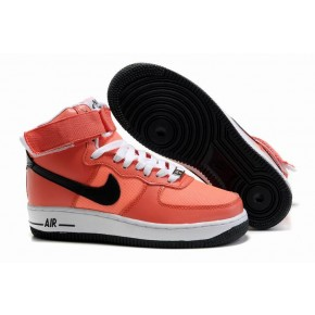 Women Nike Dunk High Redish Orange White Black Shoes