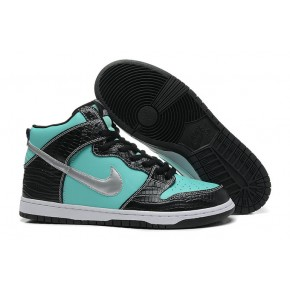 Women Nike Dunk High SB Black Blue Shoes