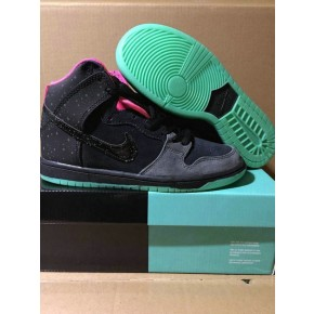Women Nike Dunk High SB Black Red Green Shoes