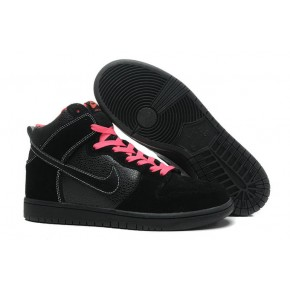Women Nike Dunk High SB Black Red Shoes