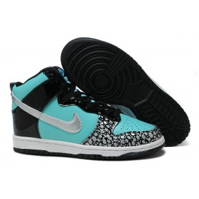 Women Nike Dunk High SB Red Black Cement Grey Shoes