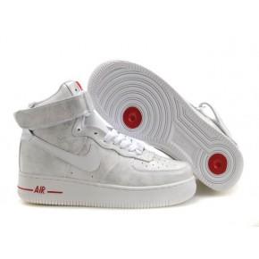 Women Nike Dunk High White Red Shoes