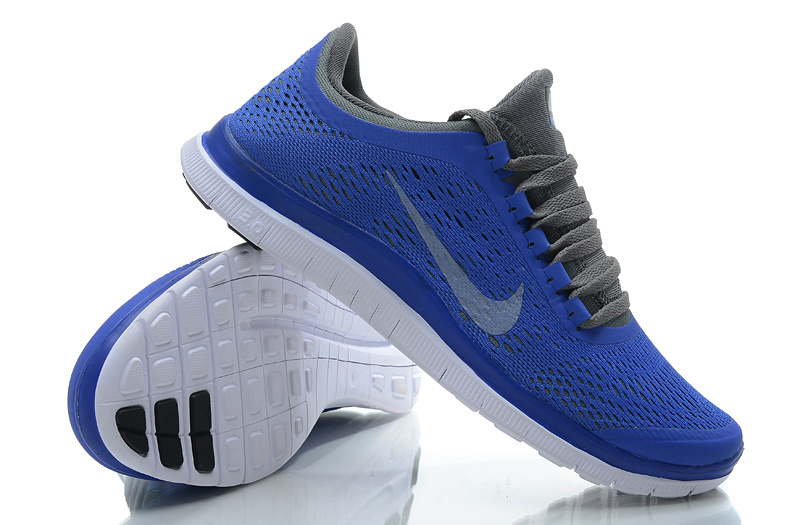 Women Nike Free 3.0 V5 Blue Black Running Shoes