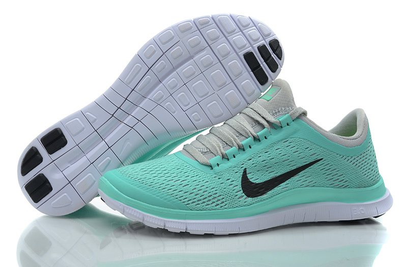 Women Nike Free 3.0 V5 Green Grey Running Shoes