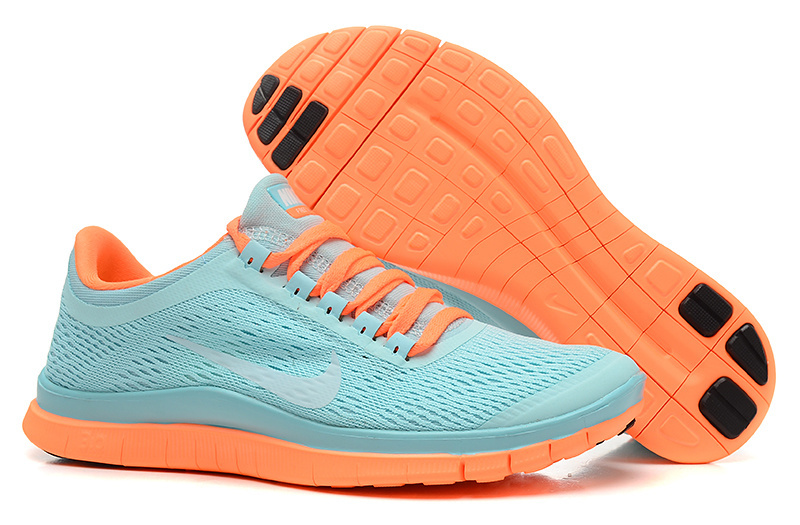 Women Nike Free 3.0 V5 Green Orange Running Shoes