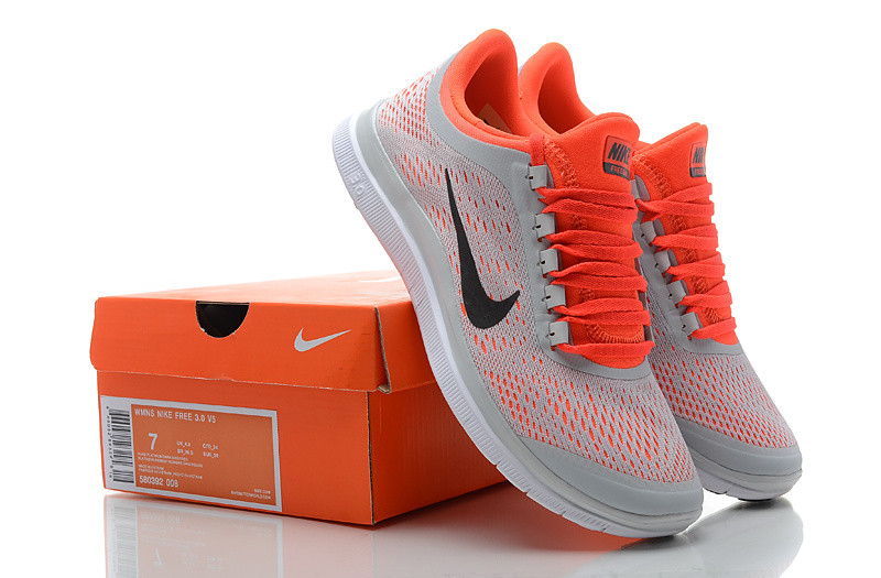 Women Nike Free 3.0 V5 Grey Orange Running Shoes