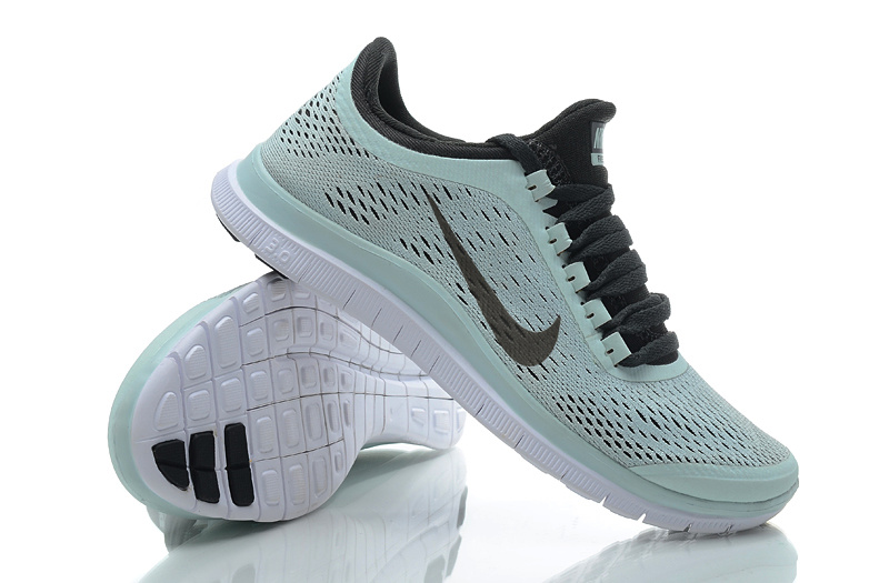 Women Nike Free 3.0 V5 Light Green Black Running Shoes