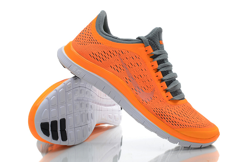 Women Nike Free 3.0 V5 Orange Grey Running Shoes
