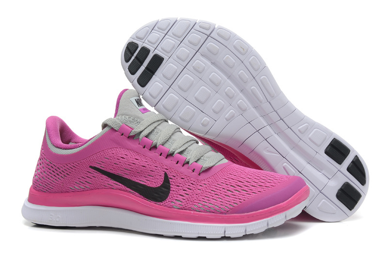 Women Nike Free 3.0 V5 Pink Grey Running Shoes