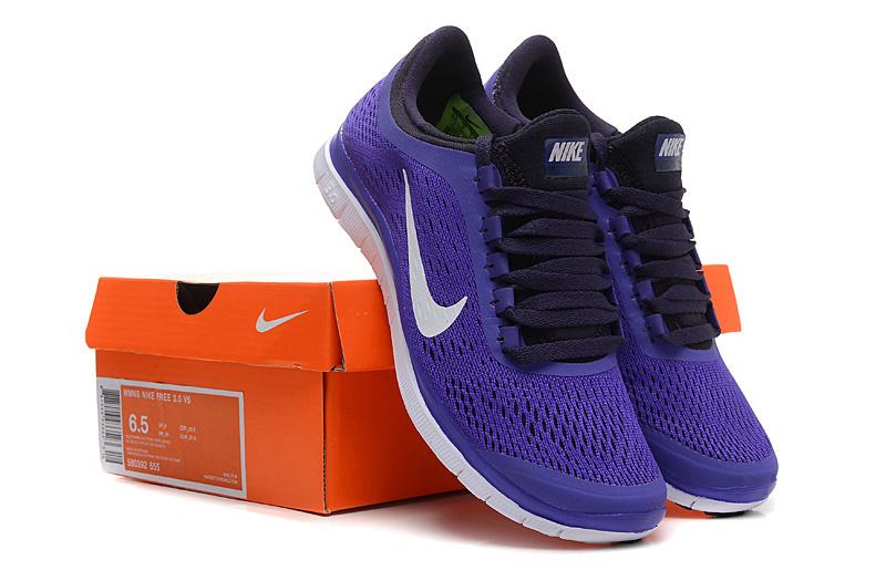 Women Nike Free 3.0 V5 Purple Black Running Shoes