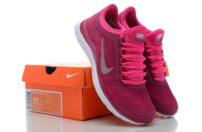 Women Nike Free 3.0 V5 Red White Running Shoes