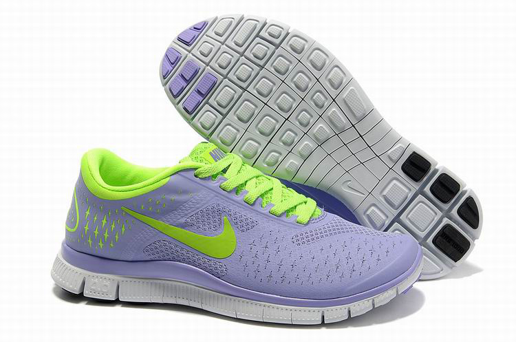 Women Nike Free 4.0 V2 Light Purple Fluorscent Running Shoes