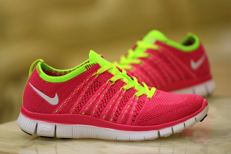 Women Nike Free 5.0 Flyknit Red Volt Shoes