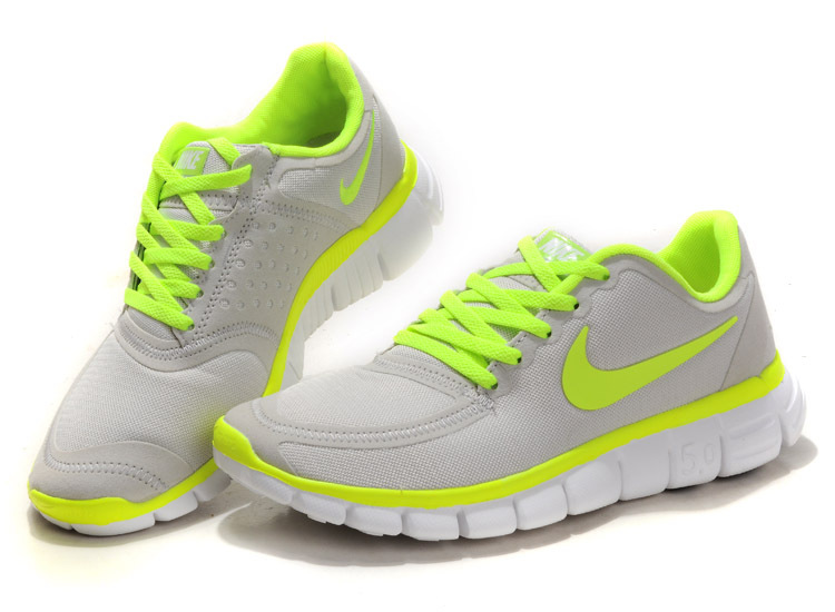 Women Nike Free 5.0 V4 Running Shoes Grey Green