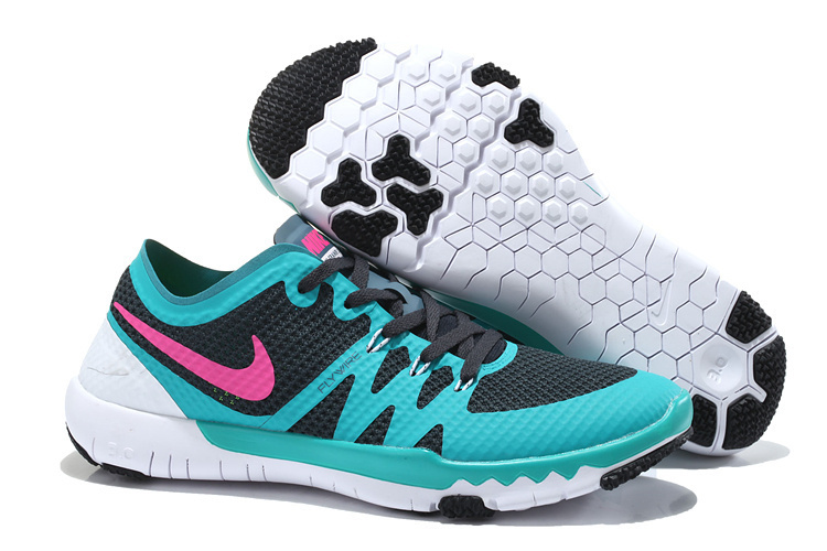 Women Nike Free Trainer 3.0 V3 Black Green Pink White Running Shoes