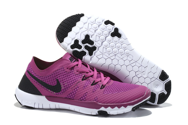 Women Nike Free Trainer 3.0 V3 Purple Black White Running Shoes