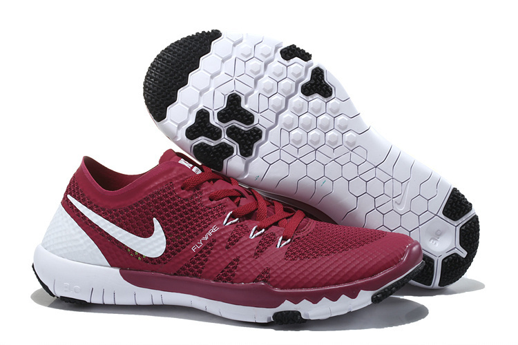 Women Nike Free Trainer 3.0 V3 Wine Red White Running Shoes