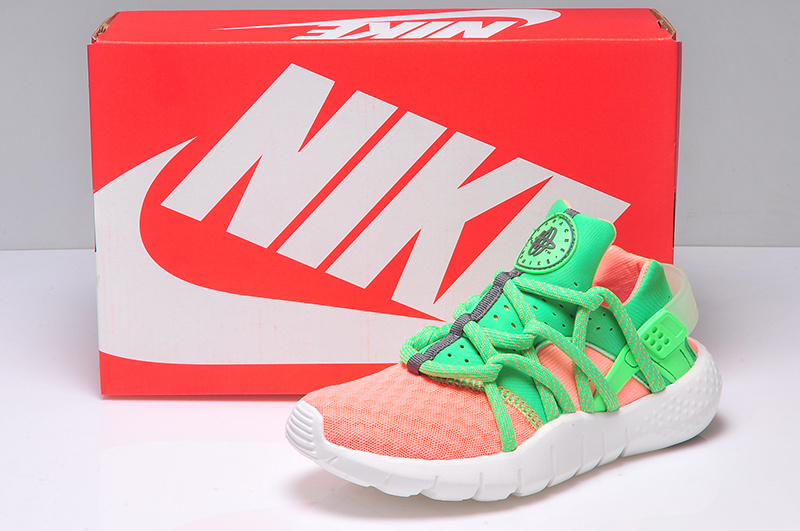 Women Nike Huarache 2 Orange Green Shoes