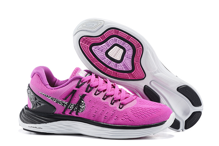 Women Nike Lunareclipes Pink Black White Running Shoes
