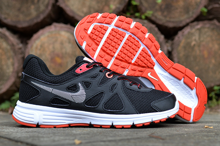 Women Nike Revolution 2 MSL Black Orange Running Shoes