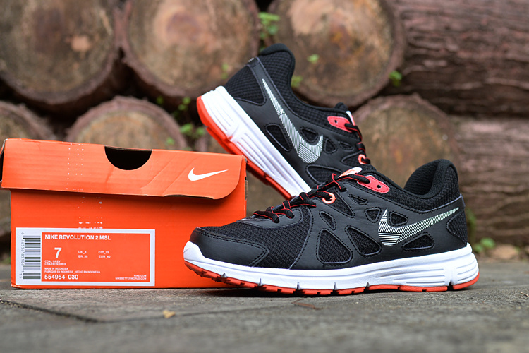 Women Nike Revolution 2 MSL Black Orange Running Shoes_01