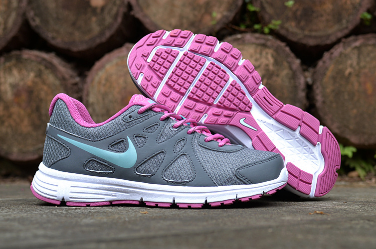 Women Nike Revolution 2 MSL Grey Pink Running Shoes