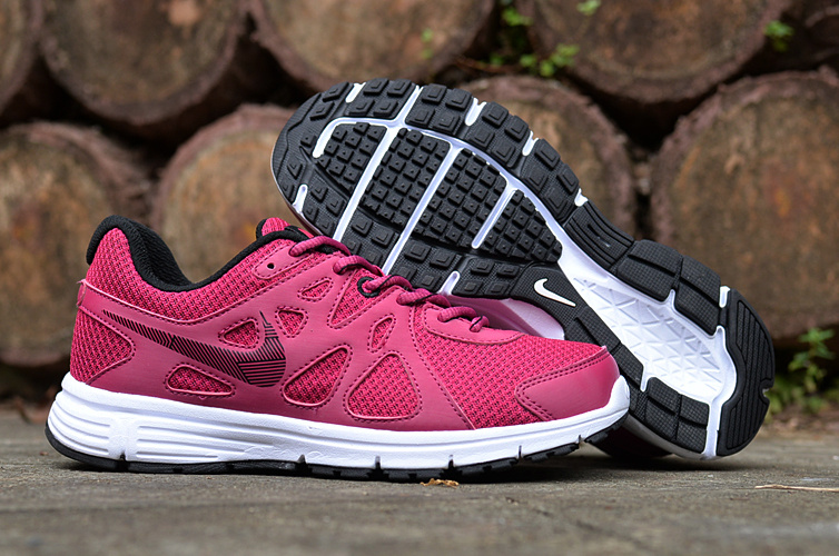 Women Nike Revolution 2 MSL Red White Running Shoes