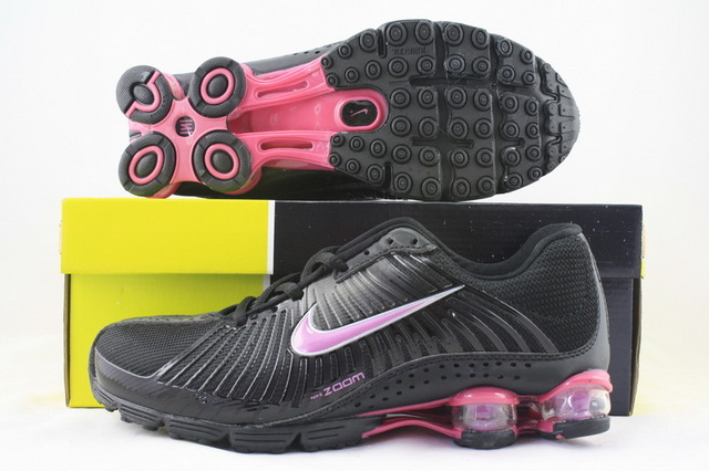 Women Nike Shox R1 Black Red Running Shoes