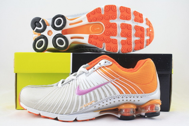 Women Nike Shox R1 Grey Orange Purple Running Shoes