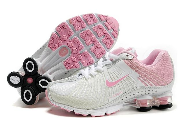Women Nike Shox R1 White Pink Running Shoes
