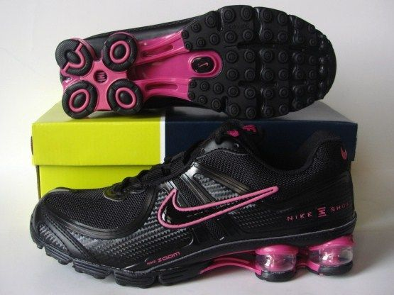 Women Nike Shox R2 Black Red Running Shoes