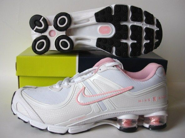 Women Nike Shox R2 White Pink Running Shoes