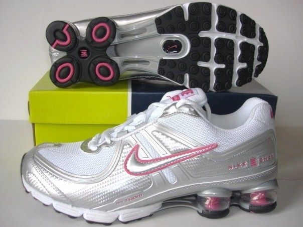 Women Nike Shox R2 White Silver Pink Running Shoes