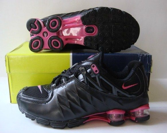 Women Nike Shox R3 Black Red Running Shoes