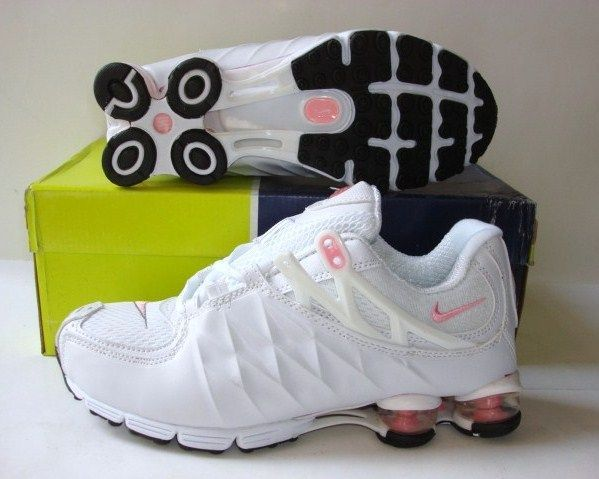 Women Nike Shox R3 White Pink Running Shoes