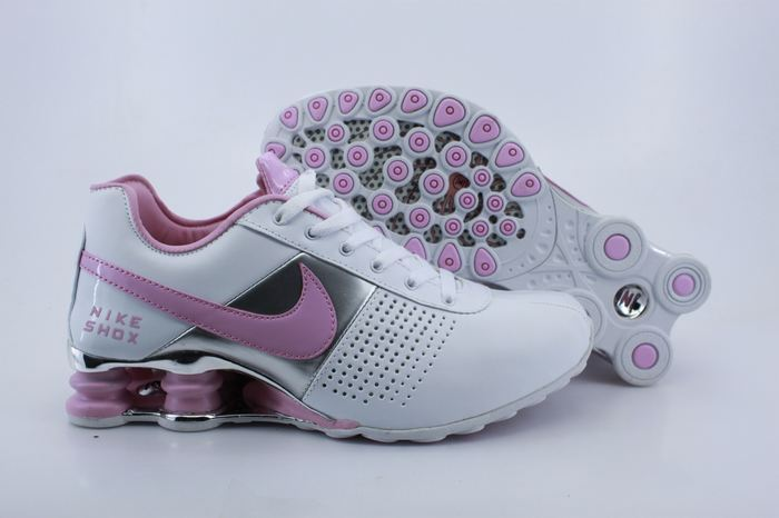 Women Nike Shox R4D White Pink Silver Running Shoes