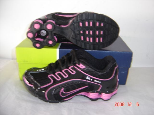 Women Nike Shox R5 Black Pink Running Shoes