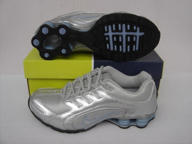 Women Nike Shox R5 Grey Silver Running Shoes