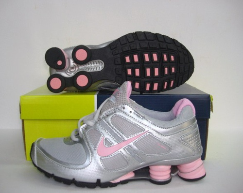 Women Nike Shox R5 Silver Pink Running Shoes