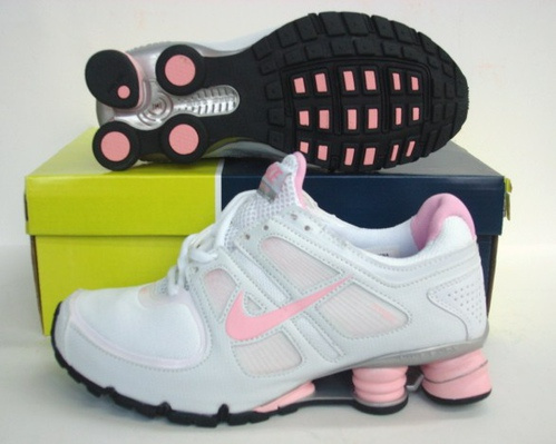 Women Nike Shox R5 White Pink Running Shoes