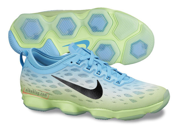 Women Nike Zoom Fit Agility Blue White Fluorscent Running Shoes