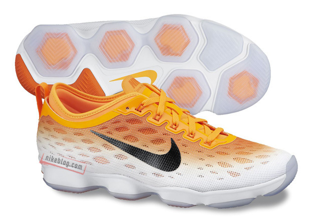 Women Nike Zoom Fit Agility Yellow White Running Shoes